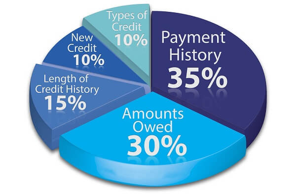 how credit rating works pie chart